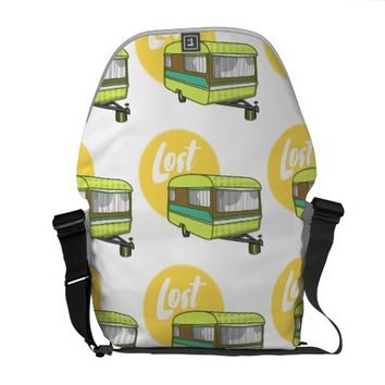 Caravan Lost Retro Camper Courier Bag