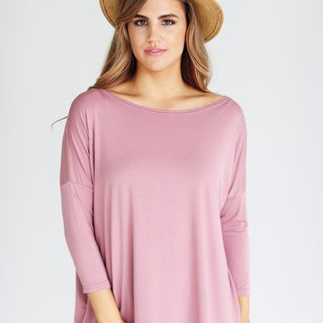 Rosewood PIKO 3/4 Sleeve Top