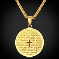 Cross Necklaces & Pendants Yellow Gold Plated ~18K Gold Plated