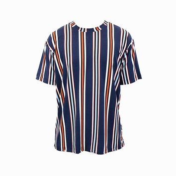 Preston Stripe T-shirt (Navy Blue)