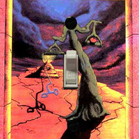 "Surreal blacklight light switch cover plate ""The Balance"" by Vincent Monaco"
