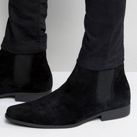 ASOS Chelsea Boots in Black Faux Suede at asos.com