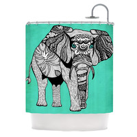 "Pom Graphic Design ""Elephant of Namibia Color"" Shower Curtain 