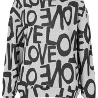 All Over Love Sweat - Jersey Tops  - Clothing