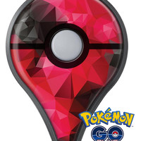 Bright Pink and Gray Geomtric Triangles Pokémon GO Plus Vinyl Protective Decal Skin Kit