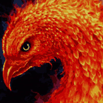 Phoenix Art Cross Stitch Pattern