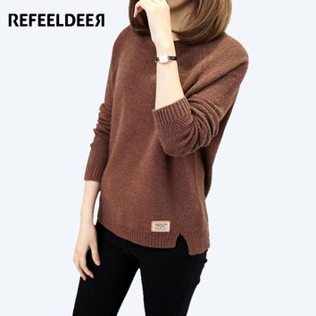 Refeeldeer New Arrivals Women Sweater And Pullovers Female 2017 Autumn Winter Sweater Women Thick Warm Jumper Tricot Pull Femme
