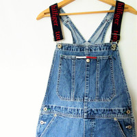 Vintage 1990s Tommy Hilfiger Jean Overall Shorts Sz M