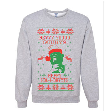 The Goonies - Hey You Guys, Happy Holidays Sweater - Funny Christmas Shirt - Ugly Christmas Sweater - Xmas Joke