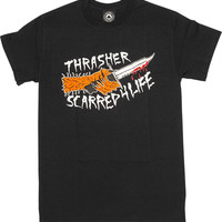 Thrasher Scarred Tee XLarge Black
