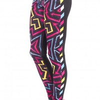 Retro Arrows Printing Fashion Legging