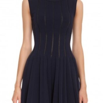 Boutique 1 - AZZEDINE ALAIA - Navy Dress With Holes | Boutique1.com