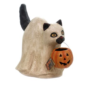 Halloween LARGE GHOST CAT Paper Spooky Pumpkin Td7630