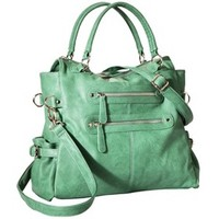 Moda Luxe Satchel Handbag with Removable Strap - Sea Green