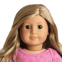American Girl® Dolls: Light skin with freckles, wavy blond hair, brown eyes