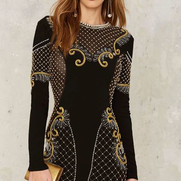 Nasty Gal Collection Love Will Never Do Embellished Dress