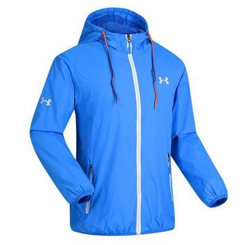 ICIK272 Trendsetter Under Armour Men Cardigan Jacket Coat Windbreaker
