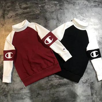 One-nice™ Champion Casual Embroidery Top Sweater Pullover Sweatshirt I-MG-FSSH