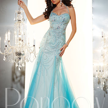 Beaded Halter Straps Formal Prom Dress Panoply 14631