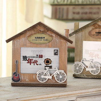 Korean Gifts Home Decor Decoration Wooden Creative Home Photo Frame [6283159686]