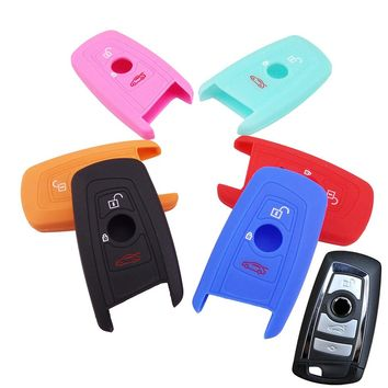 FIT FOR BMW 1 2 3 5 7 SERIES X1 X3 X4 X5 X6 E46 E53 F30 F31 F10 F20 F30 GT SILICONE 3 4 BUTTON KEY REMOTE COVER FOB SHELL CASE