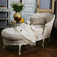 Eloquence Louis Tufted Chaise