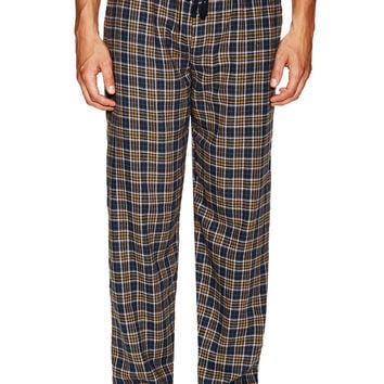 Ben Sherman Men's Plaid Lounge Pants - Dark Blue/Navy -