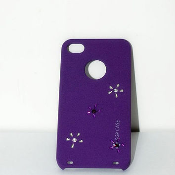 IPhone 4/IPhone 4s case with swarovski crystals