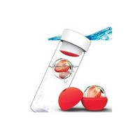 Tritan Fruit Infuser Sports Water Bottle 2 Piece Exercise Diet Walking Workout