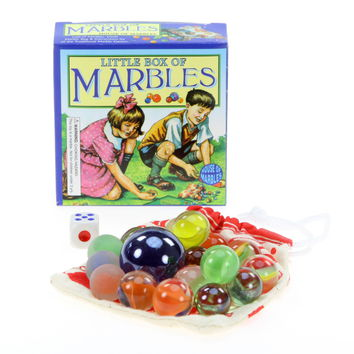 Little Box of Marbles Gift Box with Carry Pouch