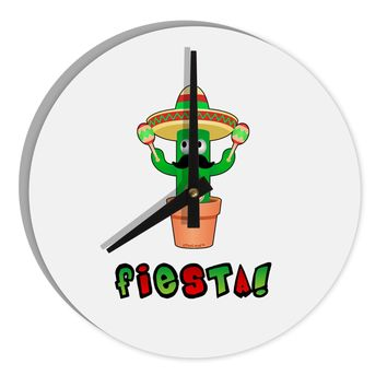 "Fiesta Cactus Text 8"" Round Wall Clock  by TooLoud"