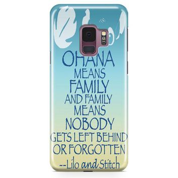 Ohana Means Family Lilo And Stitch Samsung Galaxy S9 Case | Casefantasy