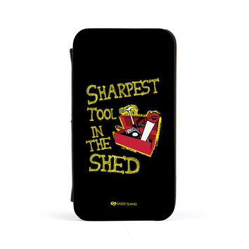 Sassy - Sharpest Tool in the Shed #10098 PU Leather Case for iPhone 4/4s by Sassy Slang