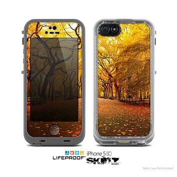 The Fall Back Road Skin for the Apple iPhone 5c LifeProof Case