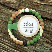 Camo (Army Green) Color Lokai Bracelet for a balanced life