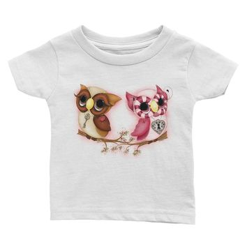 Owl Printed Top - Valentine's Day Baby Outfits