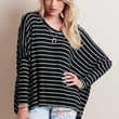 Cruising The Town Oversized Striped Top
