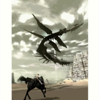 Shadow of the Colossus Flying Leviathan Art Print