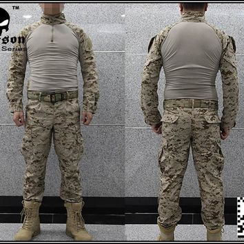 Military Airsoft BDU Combat Uniform EMERSON USMC Operational Gear FROG SUIT & PANTS  Desert  MARPAT EM2717