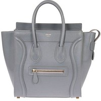 Celine Women's Micro Luggage Handbag Smooth Calfskin, Gray
