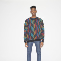 1990s Vintage Rainbow Graphic Cosby Coogi Style Sweater – Vanguard Vintage Clothing
