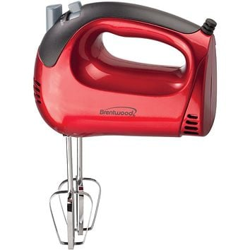 Brentwood 5-speed Red Hand Mixer
