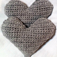 Crochet Heart Pillow,  Crochet Mini Heart, Stuffed Crochet Heart, Valentine's day, Heart Amigurumi