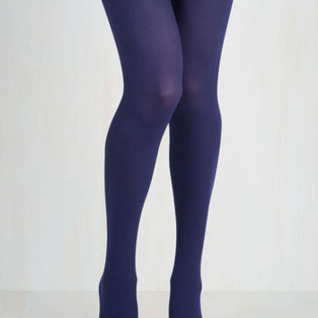 Did You See My Texture? Tights in Purple Size OS by ModCloth