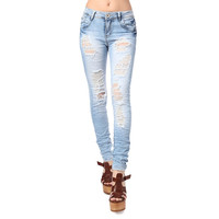 Super Skinny Jeans With Extreme Rips - Q2 Store