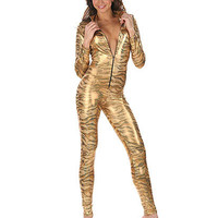 Tiger Jumpsuit Costume | Sexy Clothes Womens Sexy Dresses Sexy Clubwear Sexy Swimwear | Flirt Catalog