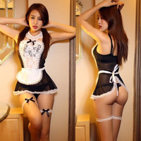 Women Sexy Lingerie Dress Underwear Babydoll Chemise Sleepwear+G-string one set
