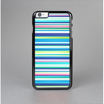 The Vibrant Colored Stripes Pattern V3 Skin-Sert for the Apple iPhone 6 Plus Skin-Sert Case