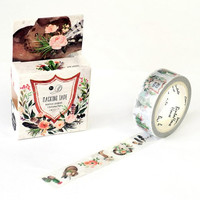 JB320 Vintage Style Flowers Decorative Washi Tape DIY Scrapbooking Masking Tape School Office Supply Escolar Papelaria