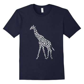 Giraffe white pattern graphic animal print t-shirt